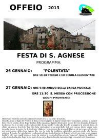 Festeggiamenti in onore di S.Agnese - 26 gennaio 2013