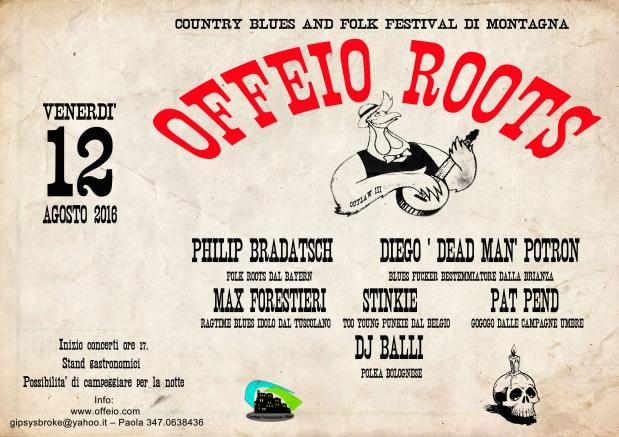 Offeio Roots: il 12 agosto torna la musica folk nelcicolano