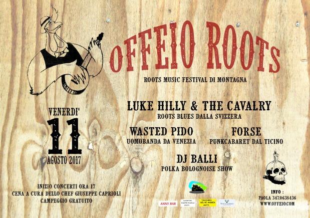 Offeio Roots 2017: l' 11 agosto torna la musica folk nelcicolano